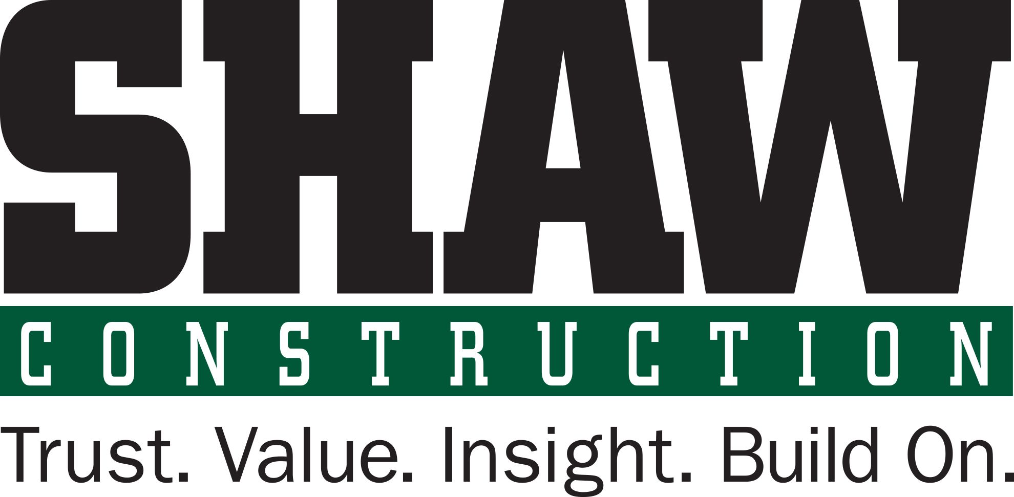 Shaw Construction logo - Links to website